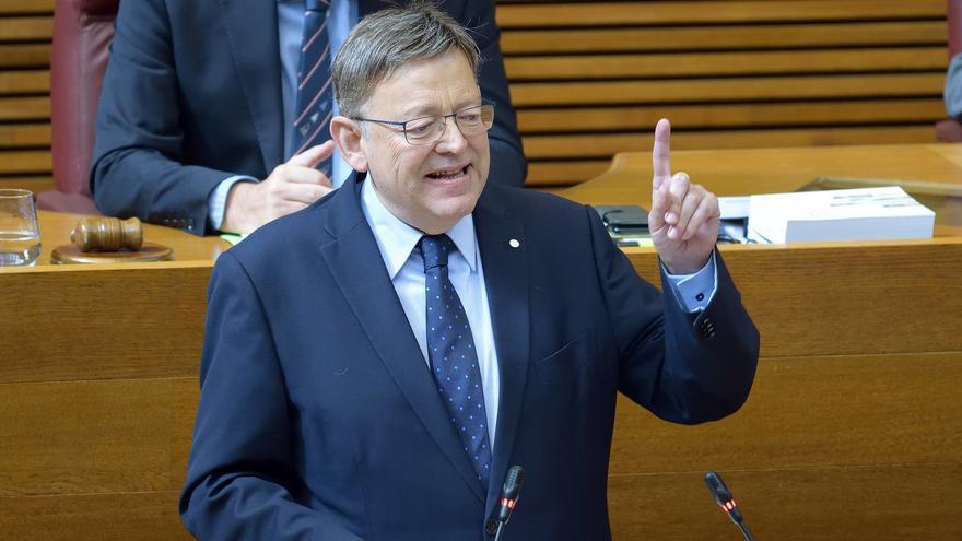 El president de la Generalitat, Ximo Puig, durante la sesión de control