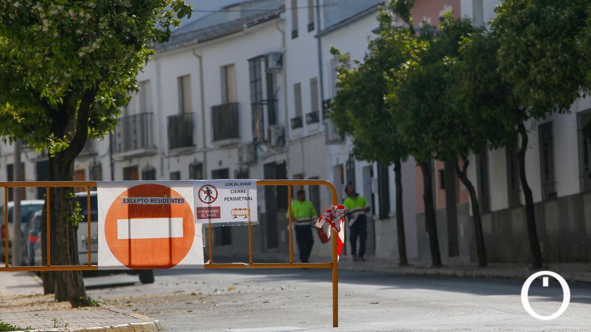 Doña Mencía, el municipio con más contagios, durante su cierre perimetral