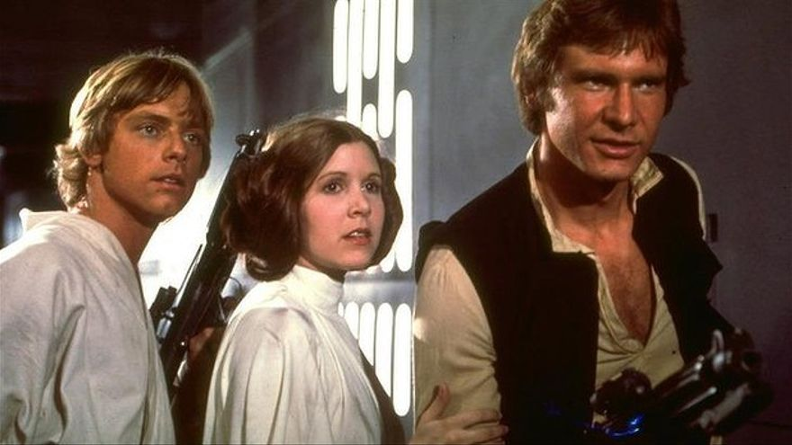 Luke, Leia y Jan armados