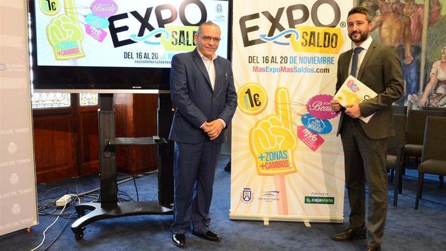 Efraín Medina y Jonay López, en la presentación de Exposaldo 2016