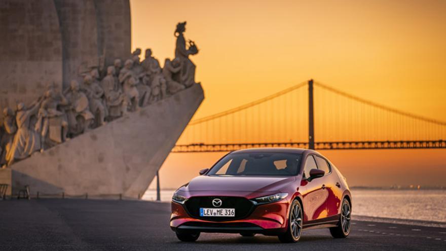 Imagen del nuevo Mazda3 en Lisboa.