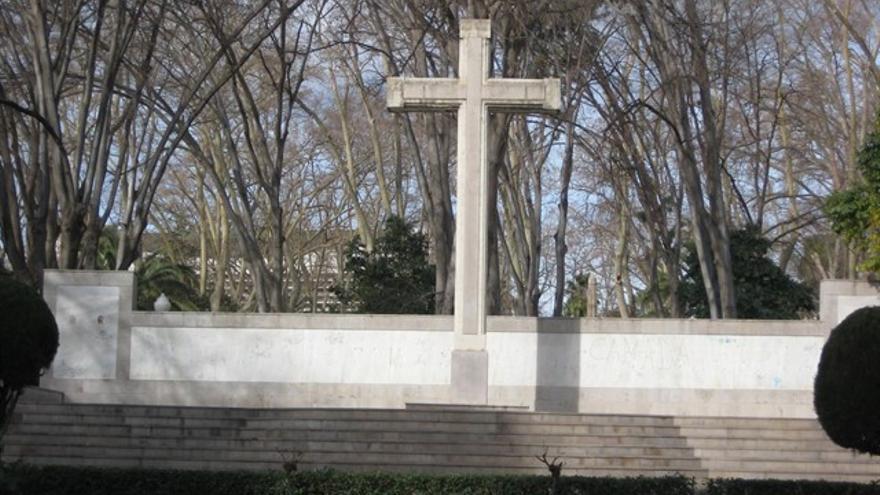 La cruz del Parque Ribalta, en Castellón.