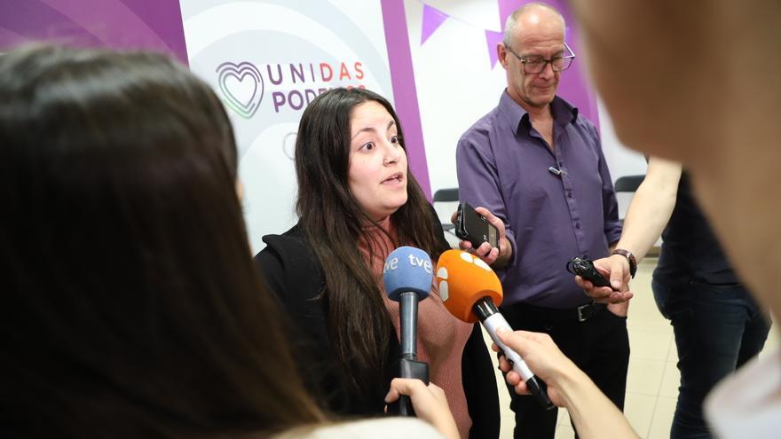 La secretaria de Comunicación de Podemos Canarias, Laura Fuentes Vega