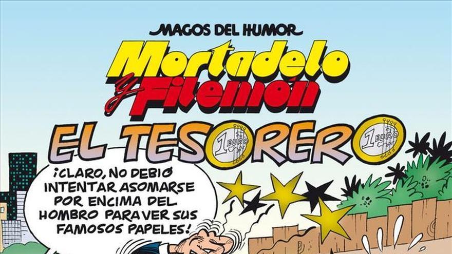 """Mortadelo y Filemón persiguen al tesorero del """"Partido Papilar"""" en un nuevo álbum"""