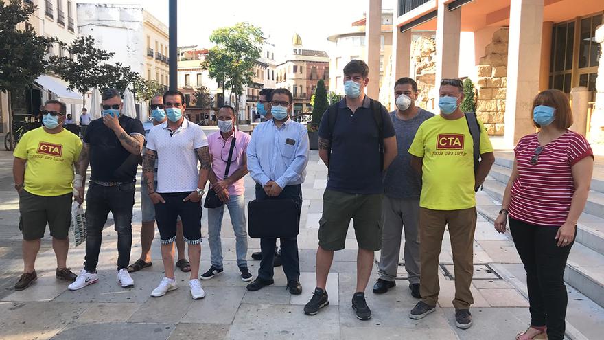 Trabajadores del comité de empresa de Cecosam.