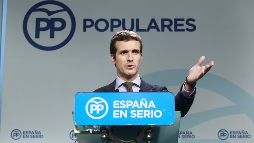 """Casado no sabe por qué no se saludaron Rajoy y Rivera pero cree que sus discursos fueron """"más al entendimiento"""""""