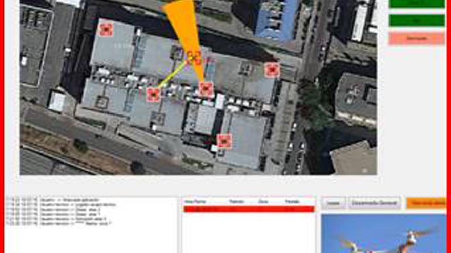 Imagen de la interfaz mostrando que un dron ha sido detectado