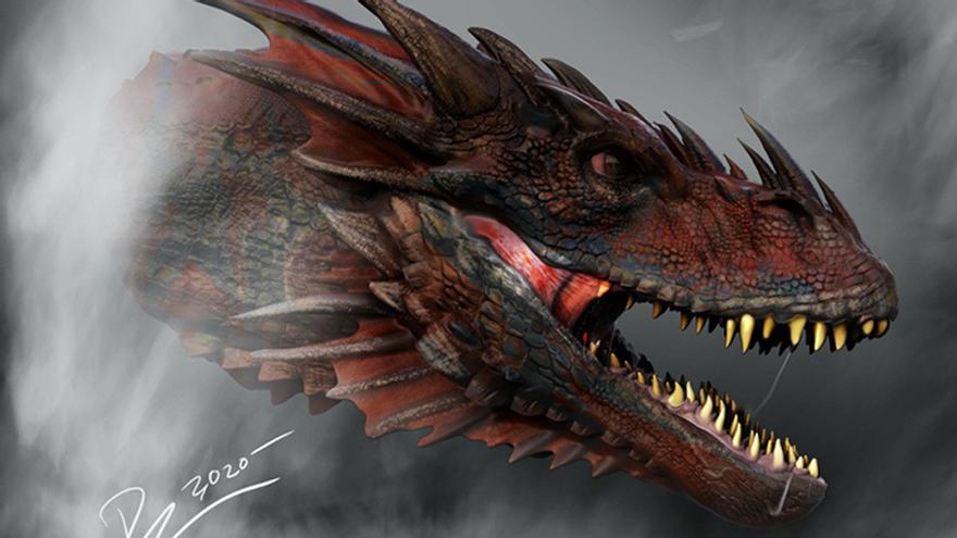 Imagen de uno de los dragones de 'House of the Dragon'