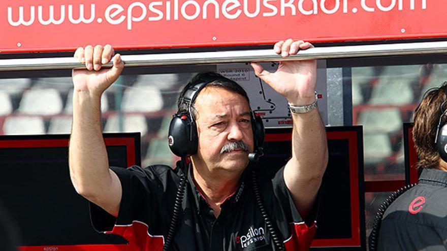 Joan Villadelprat, en el box de Epsilon Euskadi./ Foto: Epsilon Euskadi.