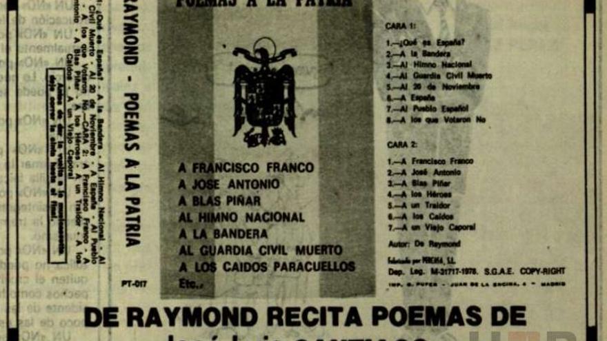 Aviso de recital de poemas de José Luis Santiago en la revista 'Fuerza Nueva', en noviembre de 1978