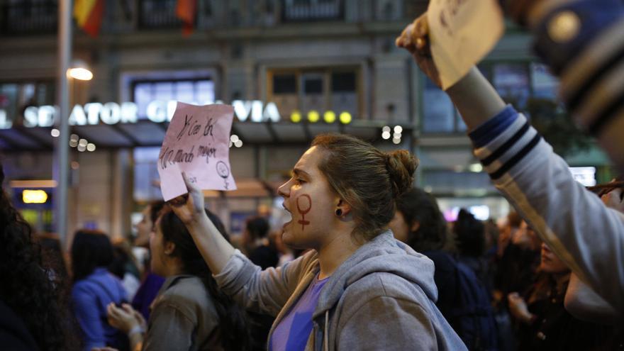 Un momento de la manifestación del 8M de 2017 en Madrid