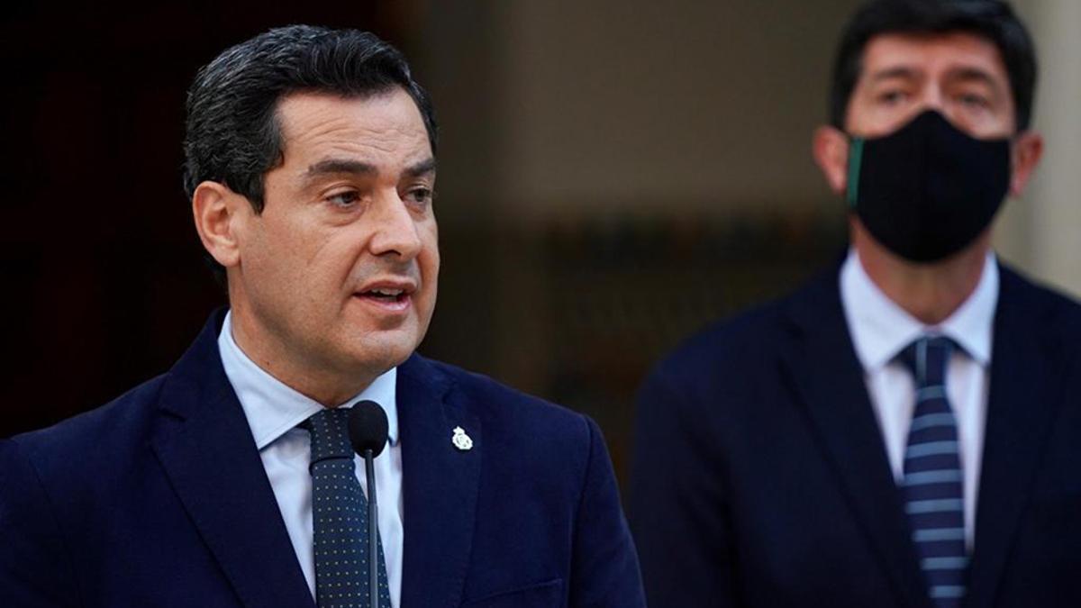 El presidente Juanma Moreno y el vicepresidente Juan Marín.