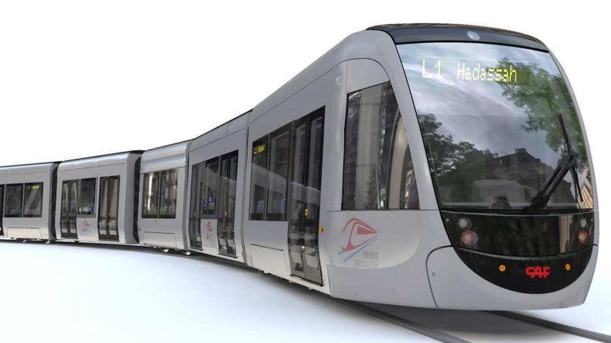 Diseño del tranvía de CAF para Jerusalén.