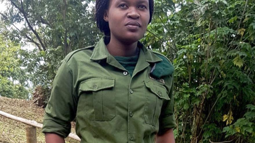 Rachel Baraka en una imagen facilitada por el parque nacional de Virunga.
