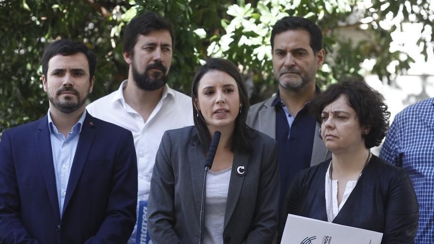 """Unidos Podemos defiende la """"plurinacionalidad"""" en su moción, pero no cita el referéndum que le pide ERC para apoyarla"""