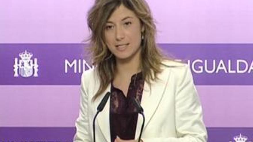 Bibiana Aído, ministra socialista de Igualdad