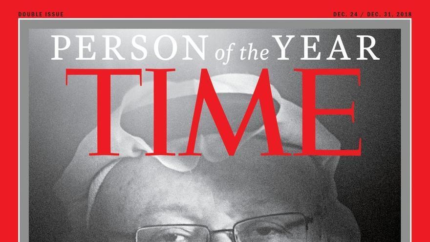 Jamal Khashoggi, en la portada de Time