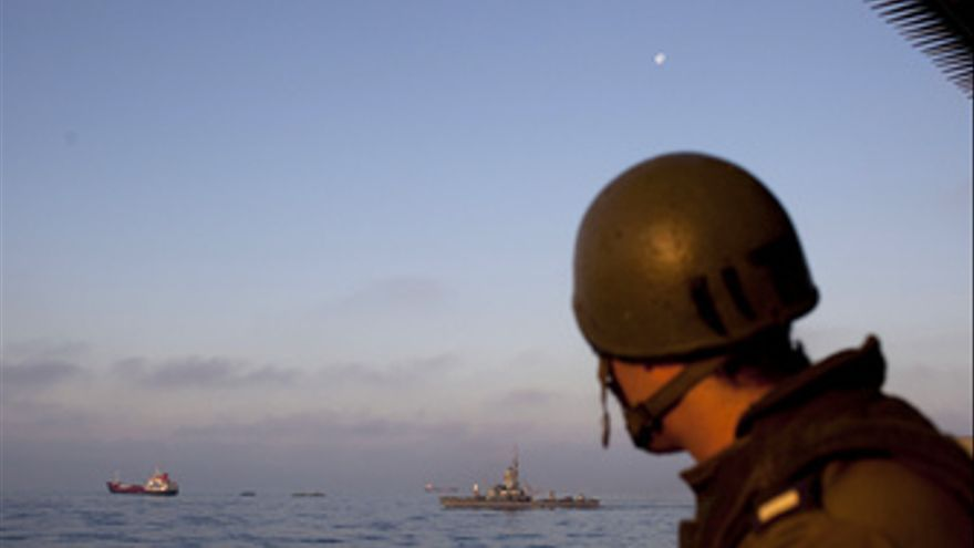 Flota de la libertad en Gaza