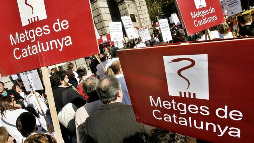 Manifestación de Metges de Catalunya