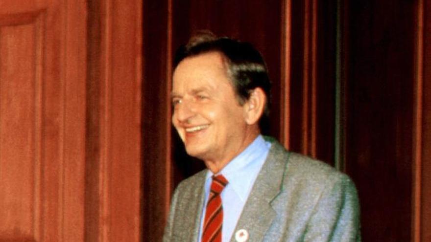 Olof Palme, exprimer ministro de Suecia asesinado en 1986.