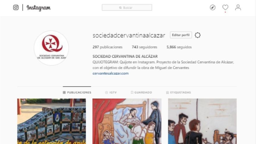 Instagram Sociedad Cervantina de Alcázar