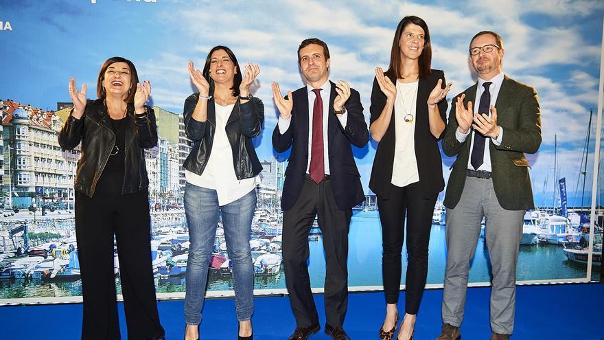 Buruaga, Igual, Casado, Beitia y Maroto en la presentación de las candidaturas. | JUANMA SERRANO