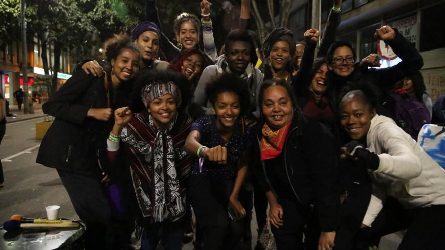 Participantes en el X Encuentro Lésbico Feminista de Abya Yala./ Producciones y Milagros