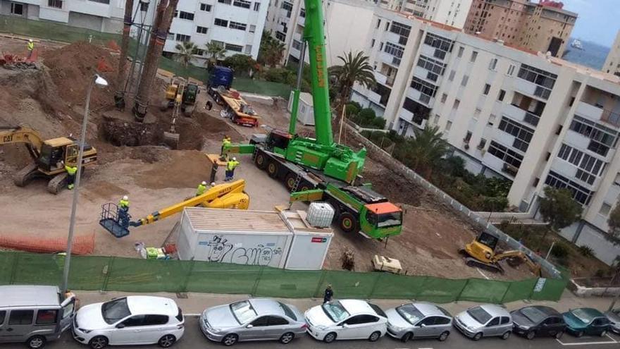 Transplantes de árboles en la Vega de San José, de la capital grancanaria, por la construcción de un supermercado.