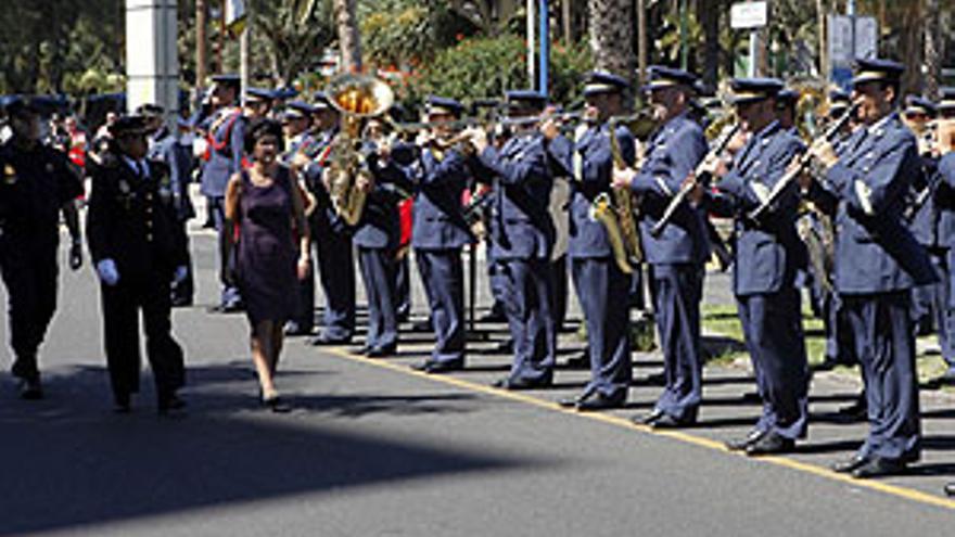 Carolina Darias durante el acto del Día de la Policía. (ACFI PRESS)
