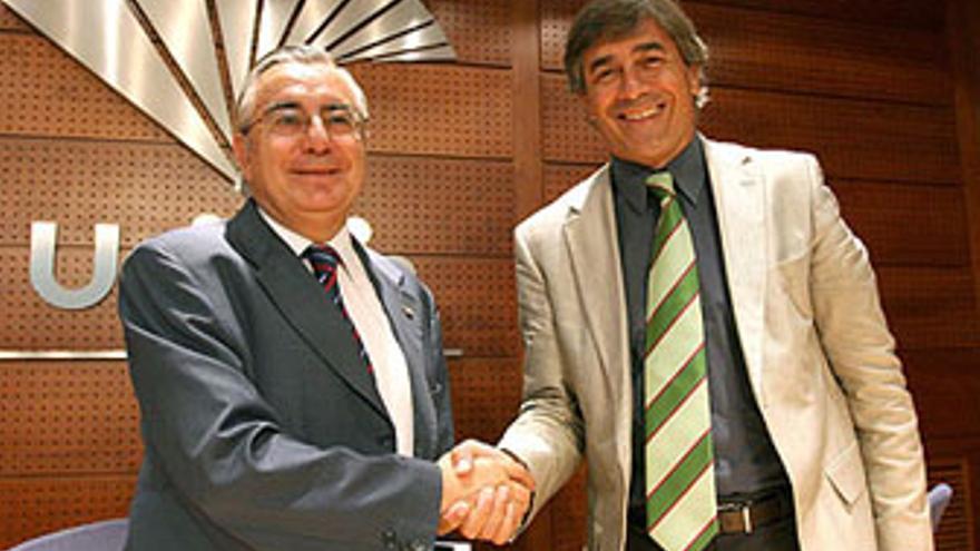 Berdi Pérez, el día de su presentación como director general de Unicaja Málaga.