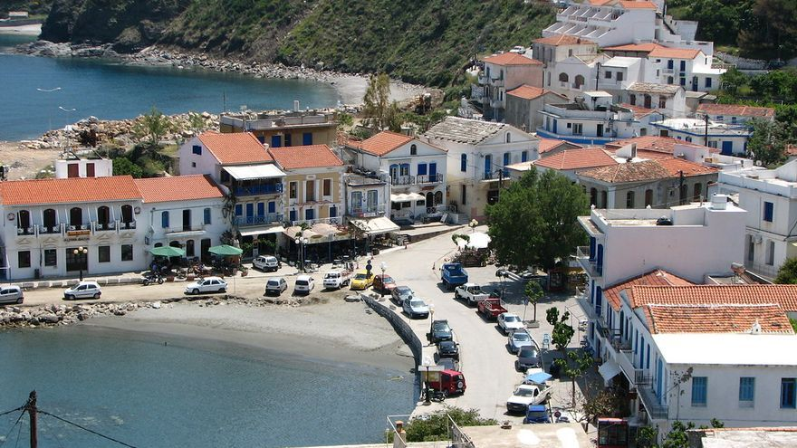 Vista de Evdilos, segunda ciudad de Ikaria y principal centro turístico. Stelios Kiousis