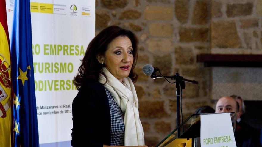 Carmen González en un acto como viceconsejera de Cultura y Turismo