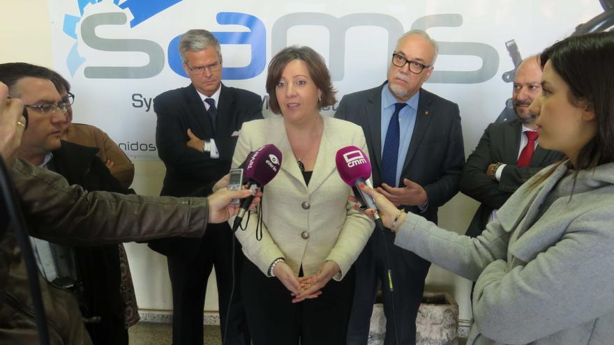 Patricia Franco, hoy en Manzanares (Ciudad Real)