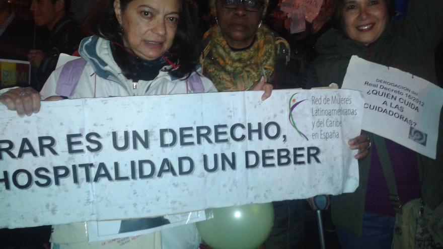 Voluntarias de la Red Latinoamericana en España./ G. S.