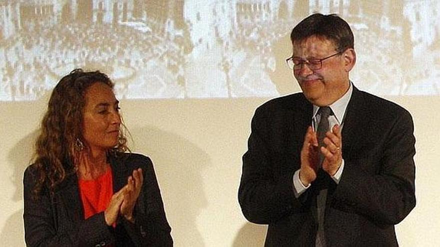 Carolina Punset y Ximo Puig.
