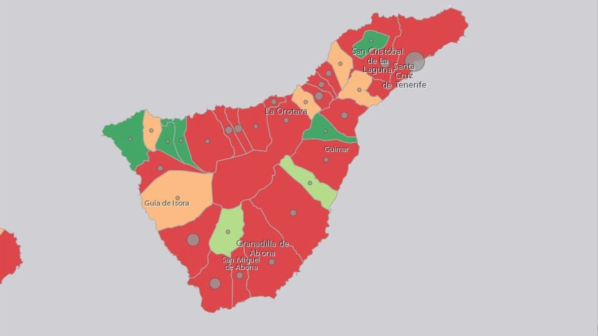 Casos activos en Tenerife este jueves, 16 de septiembre
