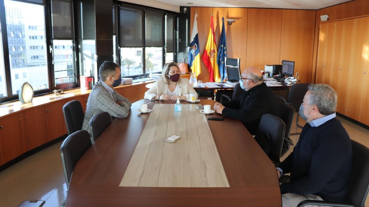 Reunión de la consejera de Agricultura, Ganadería y Pesca del Gobierno de Canarias, Alicia Vanoostende, con responsables de Seiasa.