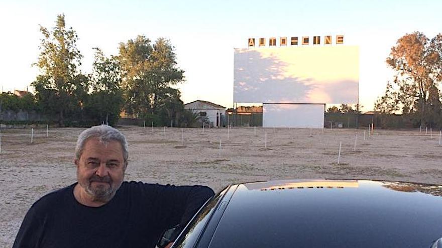Carles Miralles, propietario del autocine.