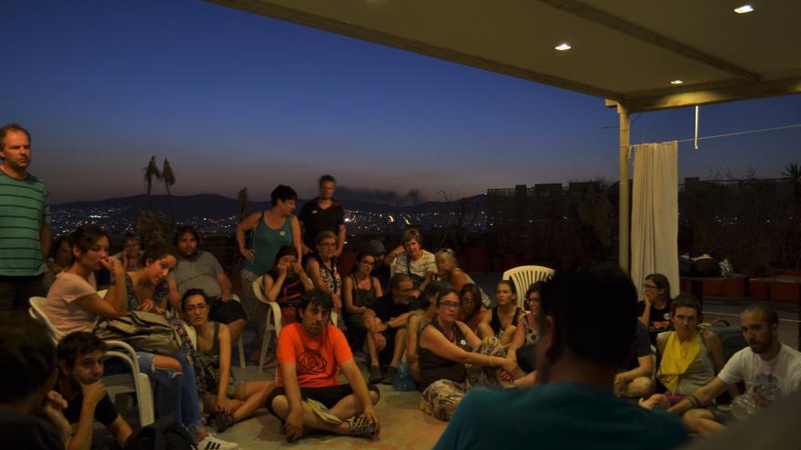 Reunión en la azotea del hotel City Plaza, en Atenas (Grecia)