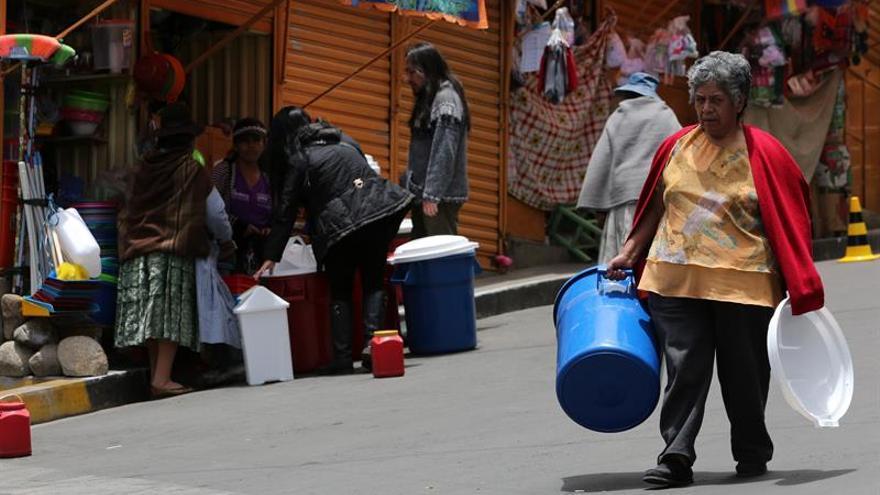 Evo Morales destituye a las autoridades del agua por su mala gestión ante la sequía