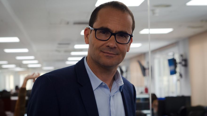 El exdirector de El Mundo, David Jiménez, durante la entrevista con eldiario.es