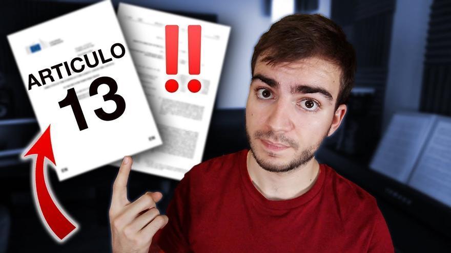 Jaime Altozano en el vídeo de Youtube que explica porqué se opone al artículo 13 de la nueva directiva de Copyright