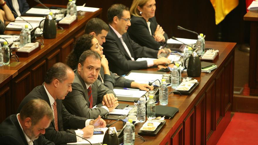 Carlos Ester en el primer pleno del mandato de Antonio Morales en el Cabildo de Gran Canaria