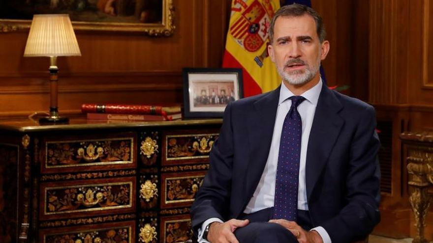 El Rey Felipe VI dirige a los españoles el tradicional mensaje de Navidad, el sexto de su reinado, desde el Palacio de La Zarzuela.