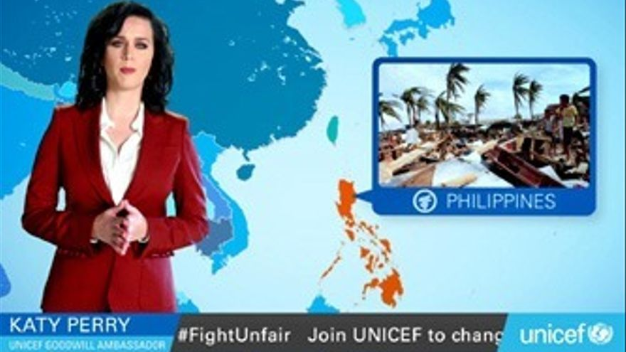 Katy Perry se hace 'mujer del tiempo' para alertar del cambio climático