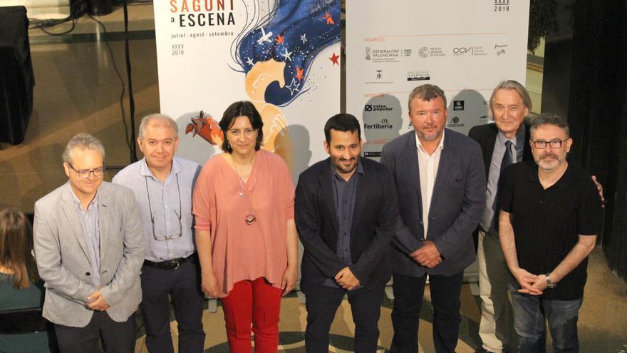 El conseller de Educación, Vicent Marzà (centro), en la presentación del festival