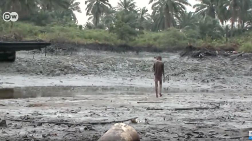 Los derrames de petróleo en el delta del Níger se producen de manera regular