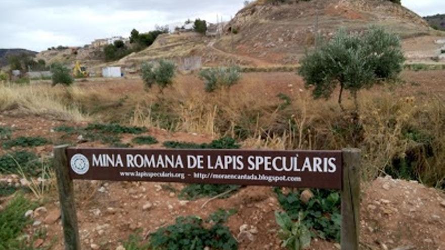 Entrada a la mina Lapis Specularis