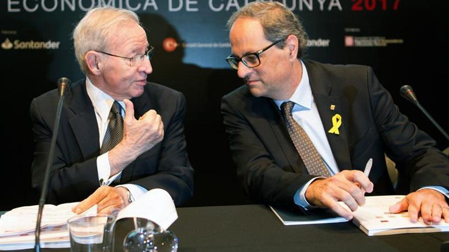 """Torra insiste en pedir la """"libertad"""" para Puigdemont y los políticos encarcelados"""