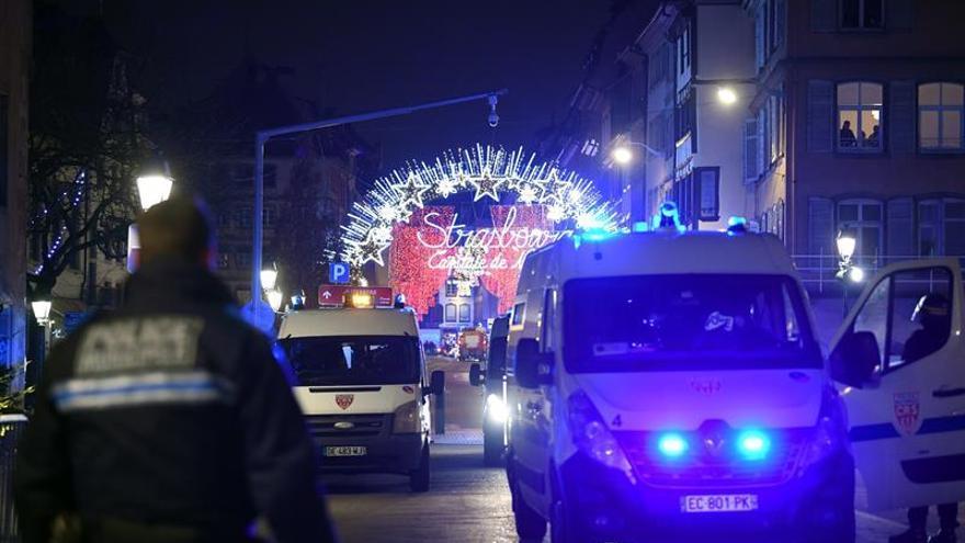 Imágenes del operativo policial en Estrasburgo.